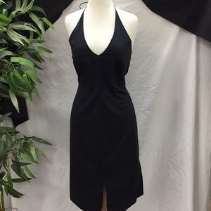 Banana Republic Black Halter Dress